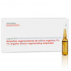 mesoestetic x.prof 014 organic silicon 1% ampoules silicon強效修復再生精華