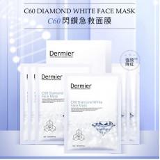 DERMIER C60 Diamond White Face Mask C60閃鑽急救面膜